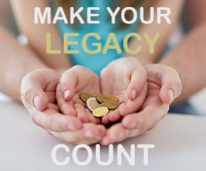 Make your legacy count image with child's hands coins in adult's hands