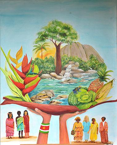 Suriname Illustration