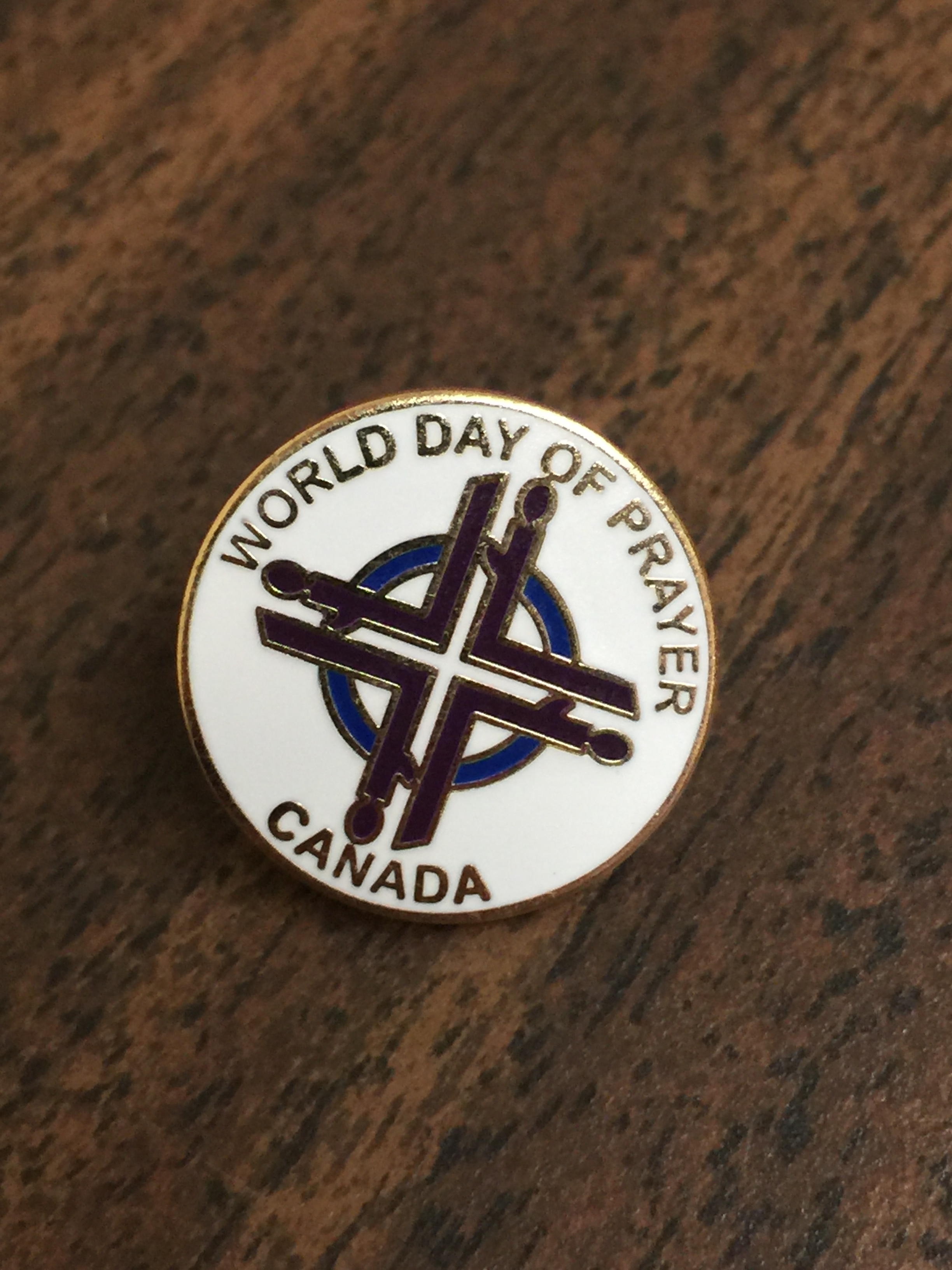 World Day of Prayer Pin