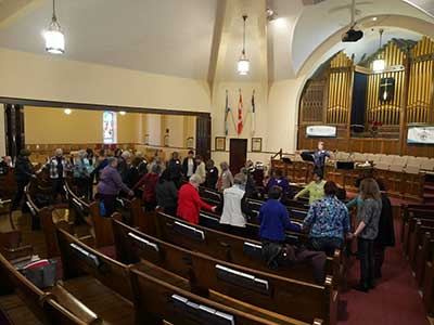World Day of Prayer session in a Church