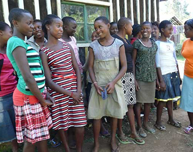 Young girls in Kenya project beneficiary of WICC